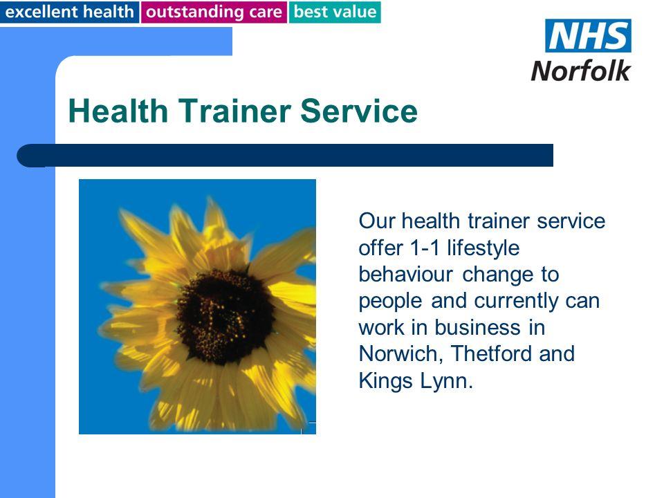 Health Trainer Service