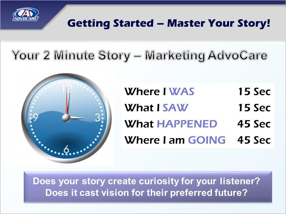 Getting Started – Master Your Story!
