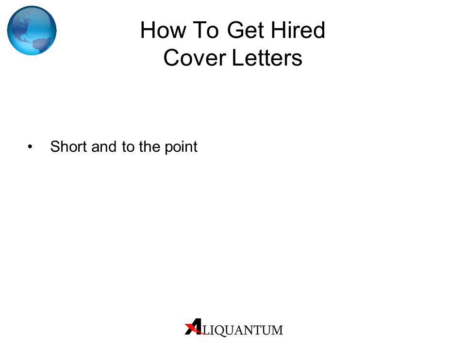 How To Get Hired Cover Letters