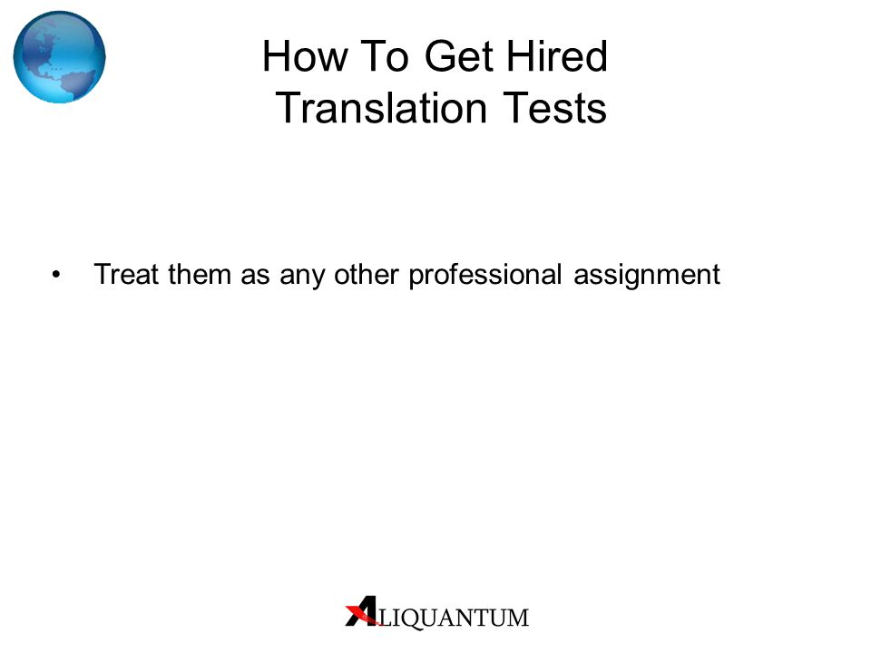 How To Get Hired Translation Tests