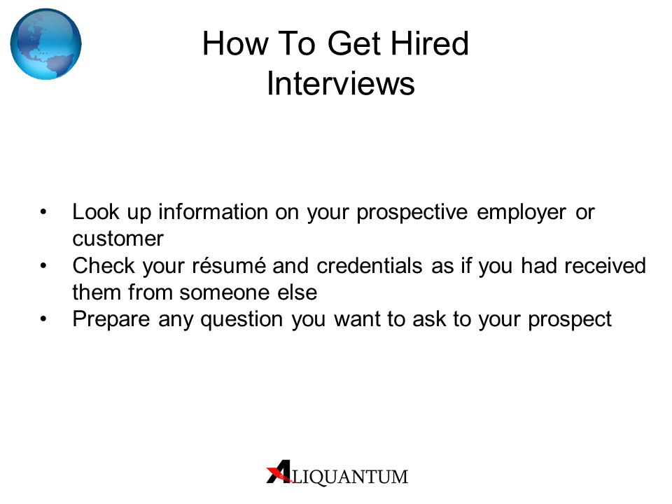 How To Get Hired Interviews