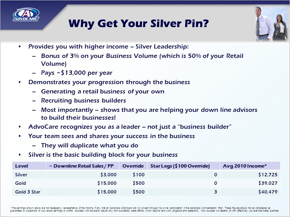 Why Get Your Silver Pin Provides you with higher income – Silver Leadership: