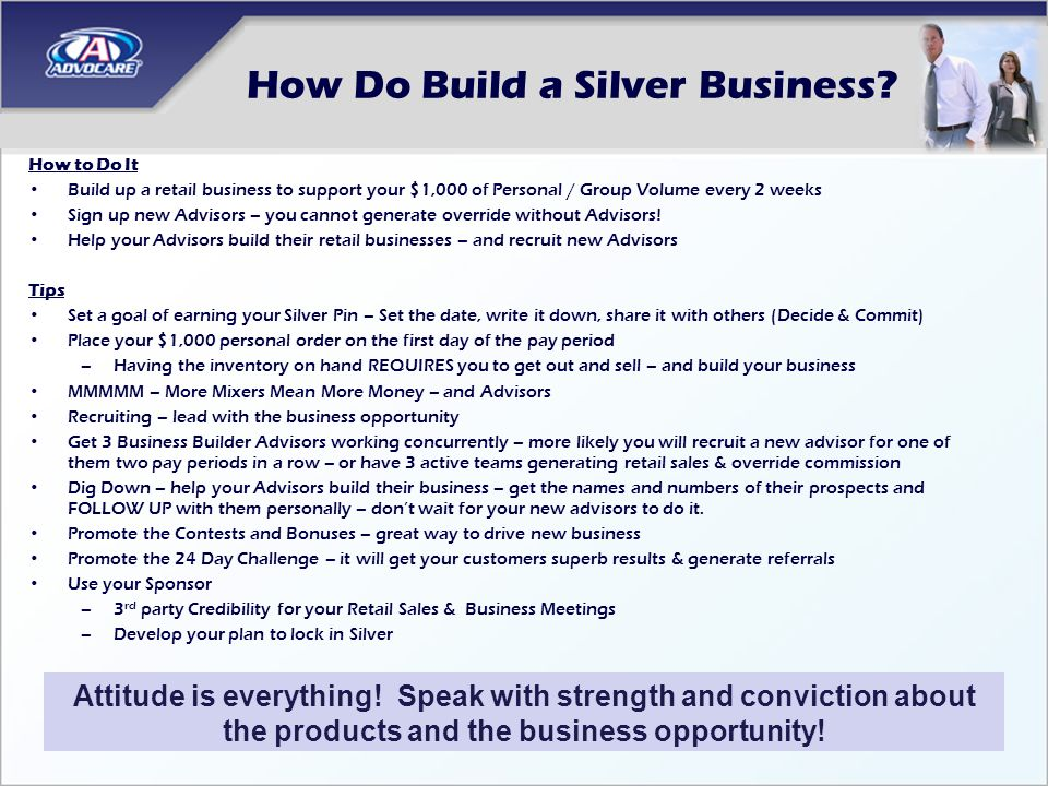 How Do Build a Silver Business