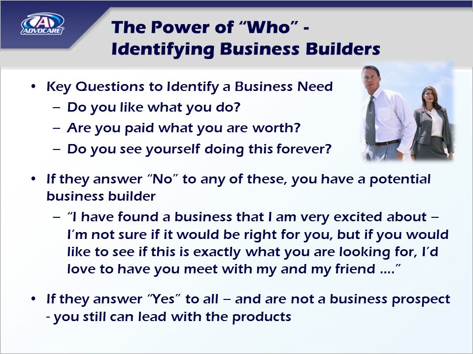 The Power of Who - Identifying Business Builders