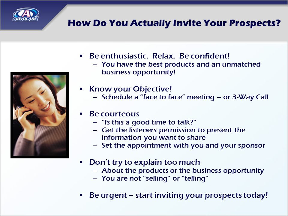 How Do You Actually Invite Your Prospects