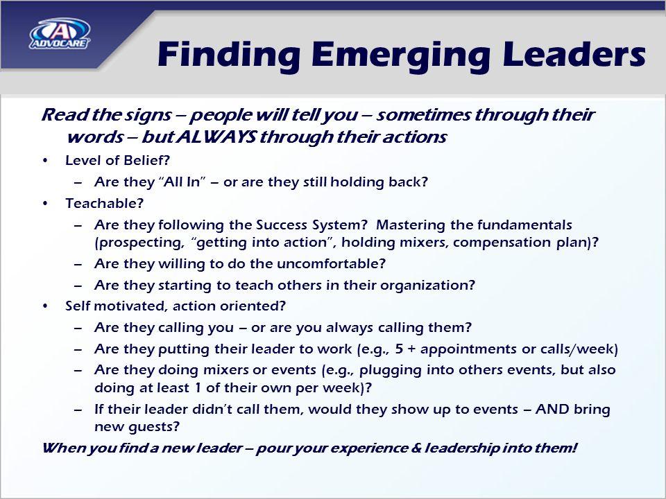 Finding Emerging Leaders