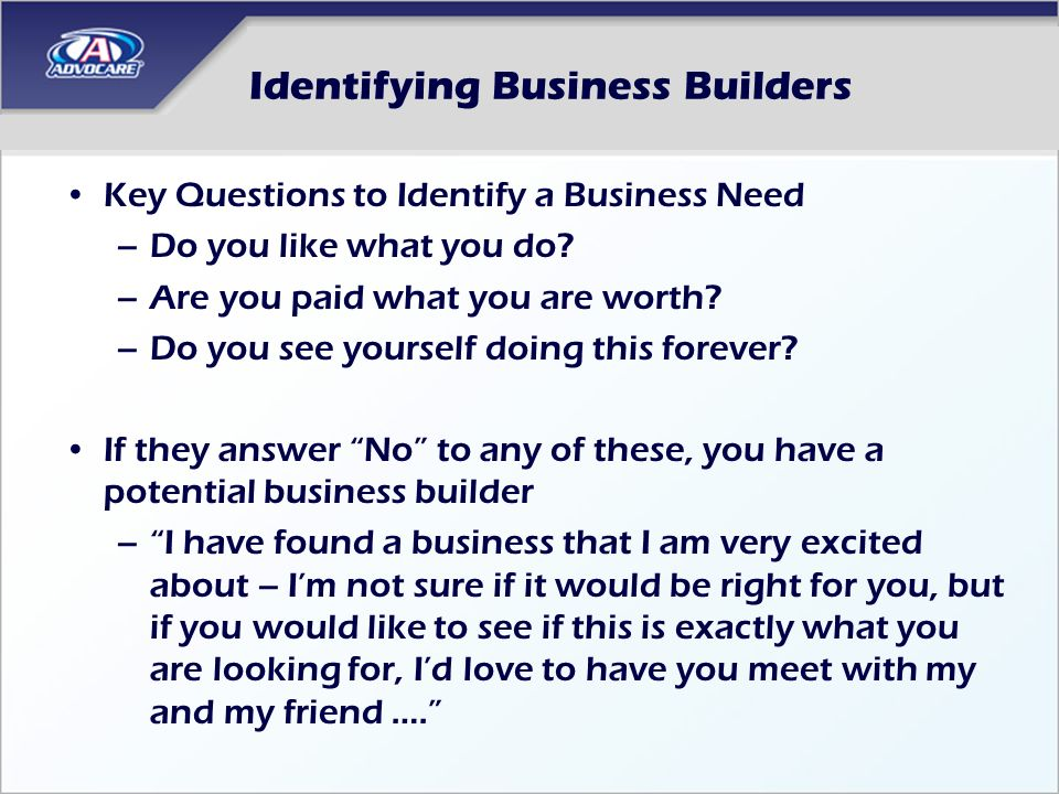 Identifying Business Builders