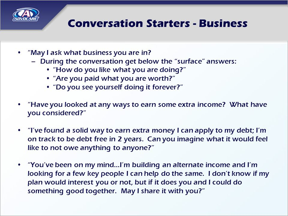Conversation Starters - Business