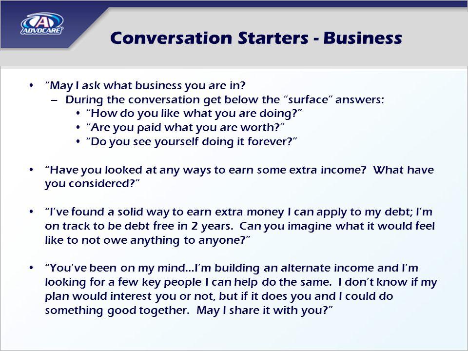 Conversation Starters - Business