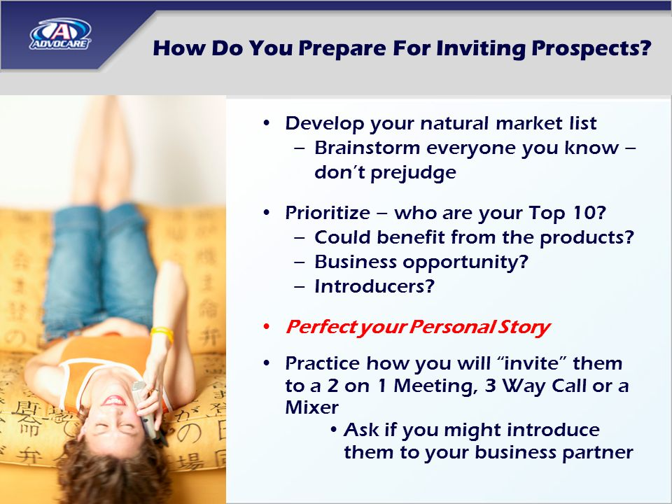 How Do You Prepare For Inviting Prospects