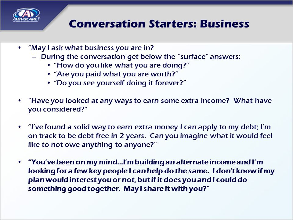 Conversation Starters: Business
