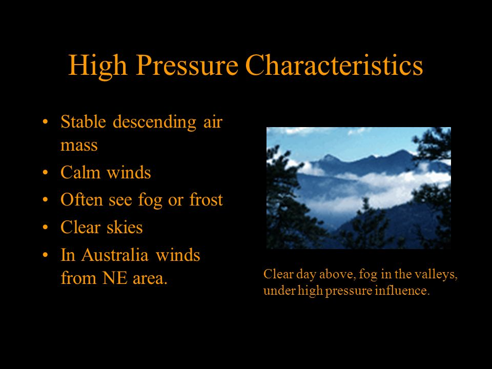 High Pressure Characteristics