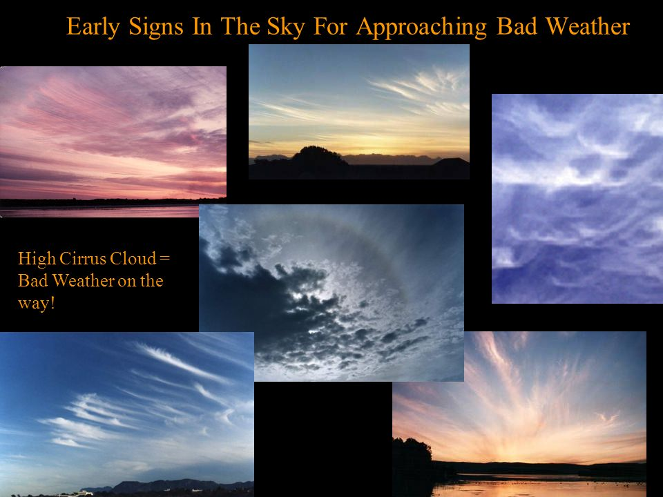 Early Signs In The Sky For Approaching Bad Weather