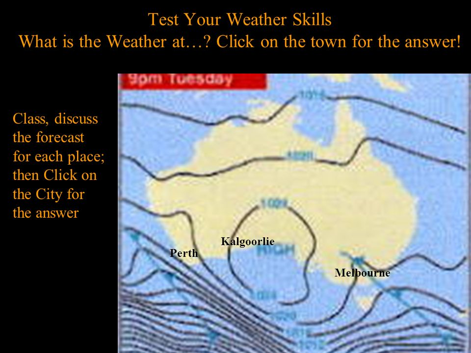 Test Your Weather Skills What is the Weather at…