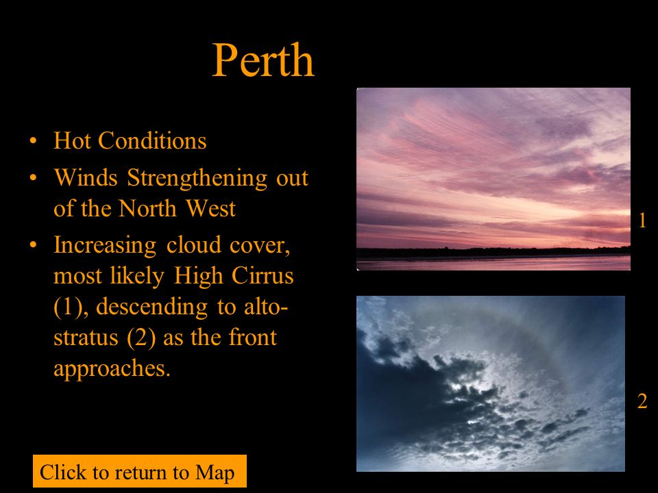 Perth Hot Conditions Winds Strengthening out of the North West