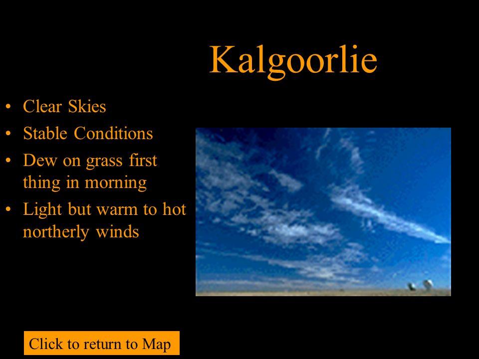 Kalgoorlie Clear Skies Stable Conditions
