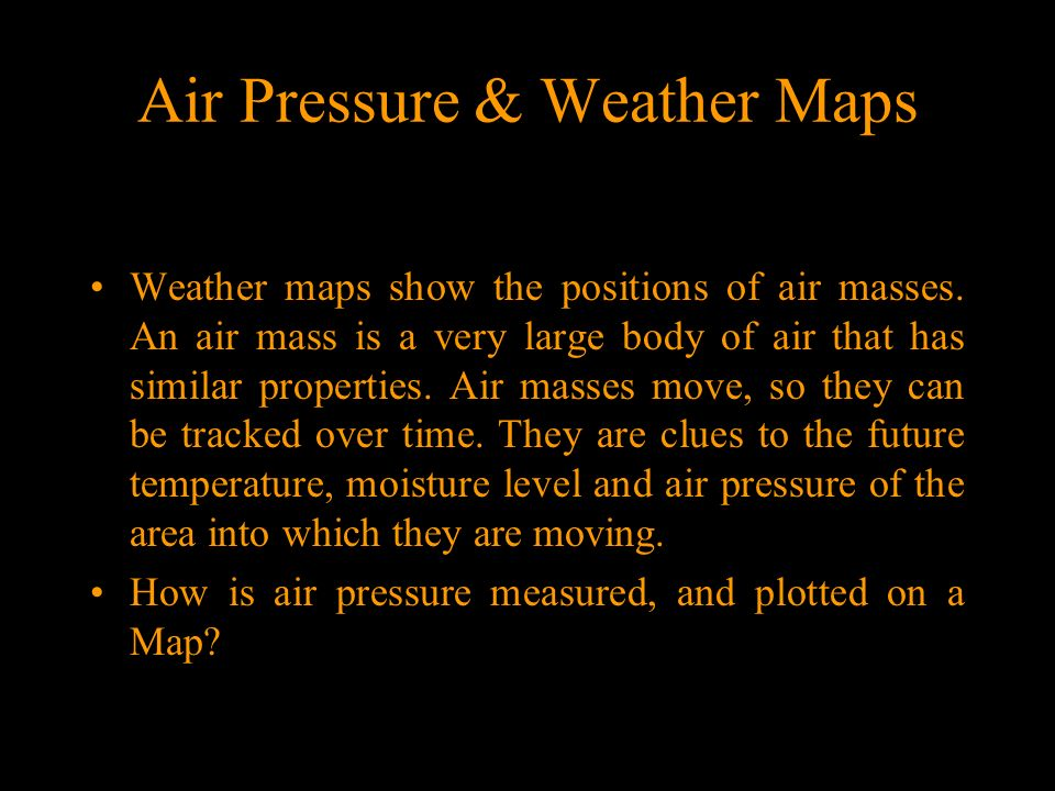 Air Pressure & Weather Maps Maps