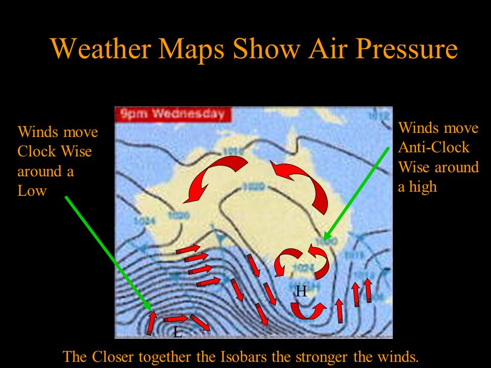 Weather Maps Show Air Pressure