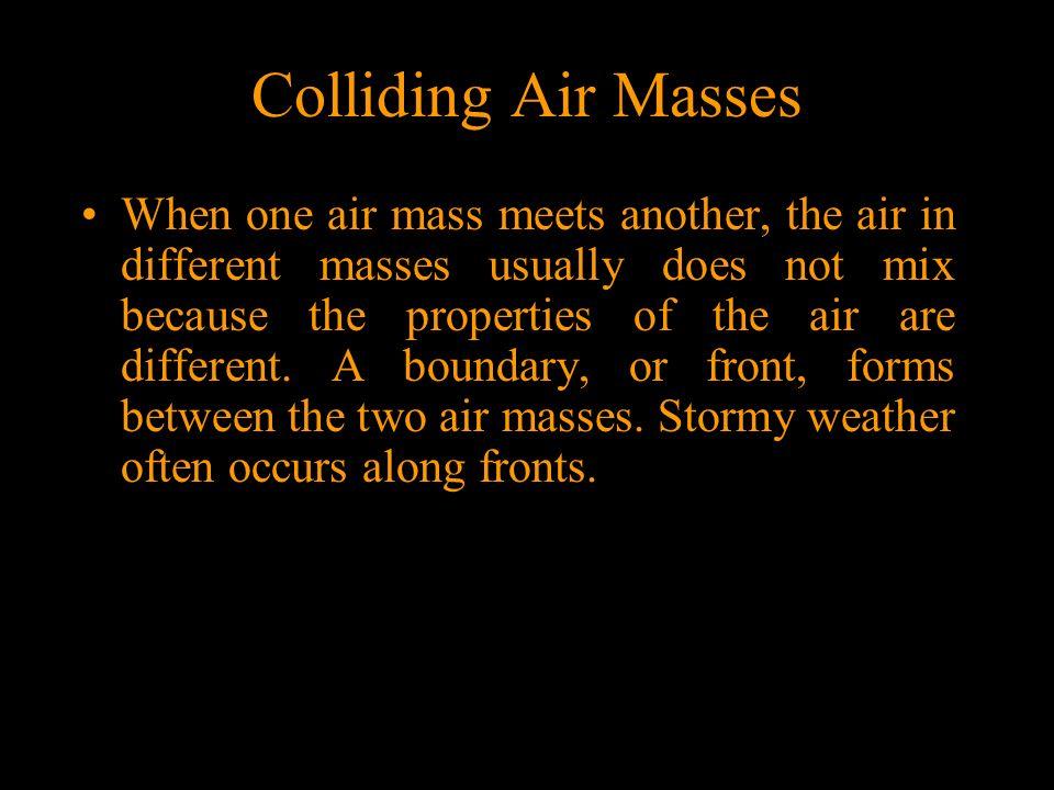 Colliding Air Masses
