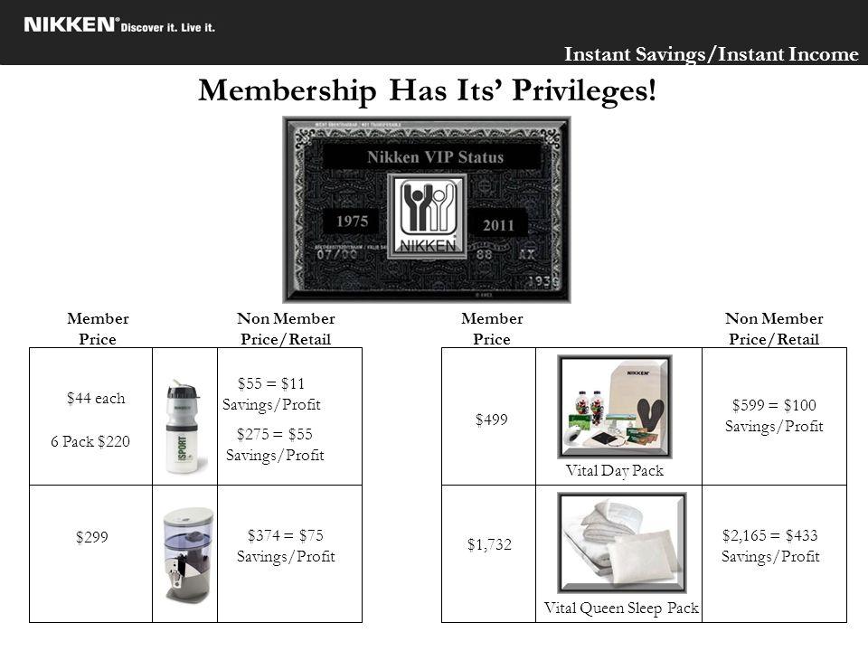 Membership Has Its' Privileges!