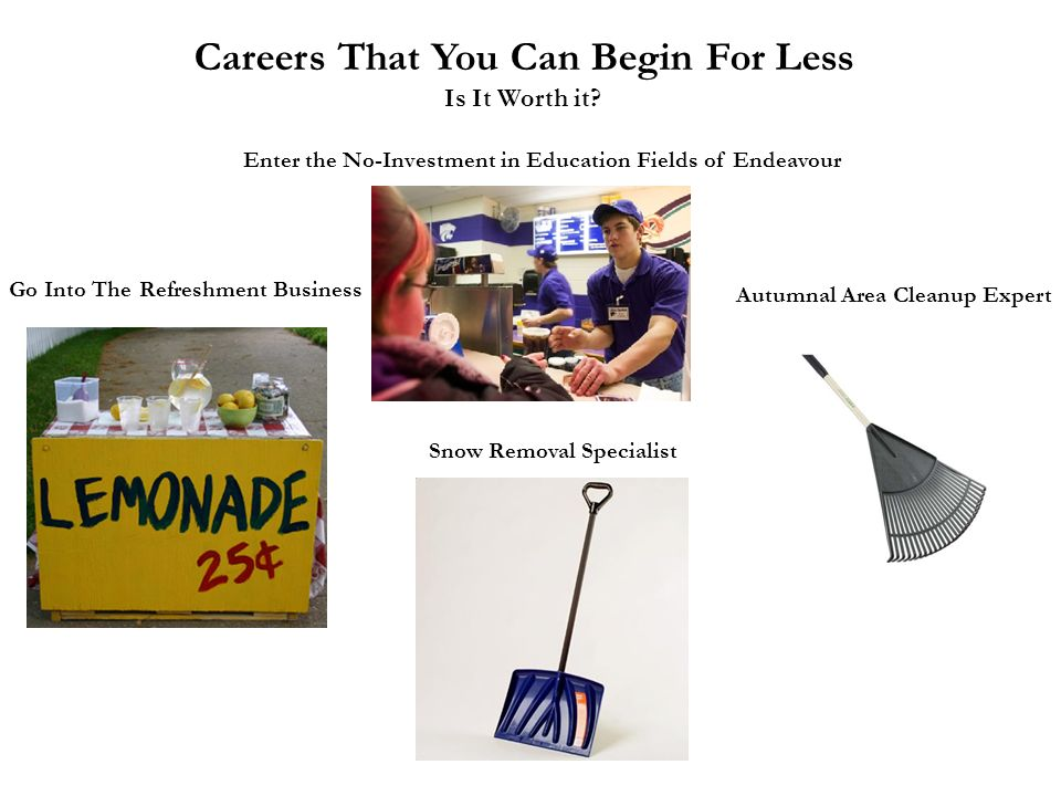 Careers That You Can Begin For Less