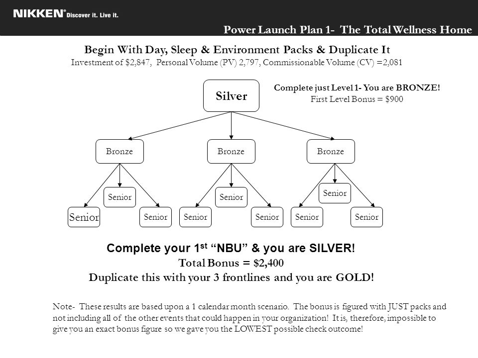 Silver Power Launch Plan 1- The Total Wellness Home