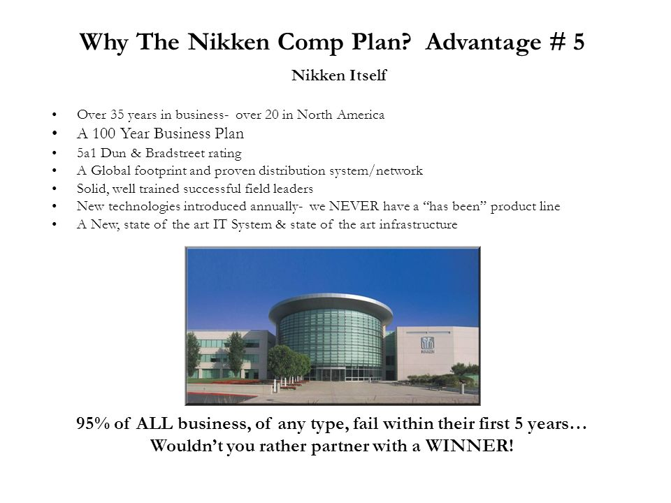 Why The Nikken Comp Plan Advantage # 5