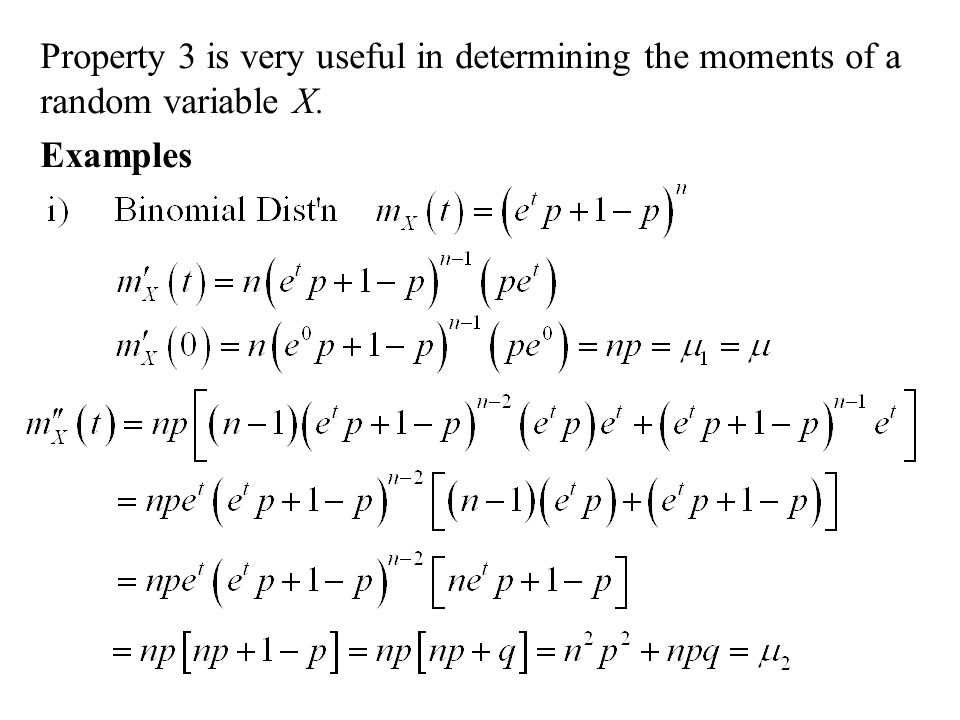 the moments of a random variable Basic tail and concentration bounds 2 in a variety of settings also follows by having suitably tight control on the moments of the random variable 25.