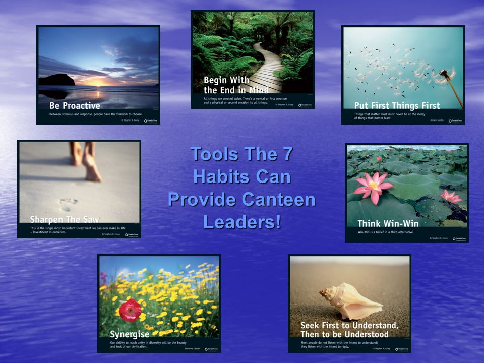 Tools The 7 Habits Can Provide Canteen Leaders!