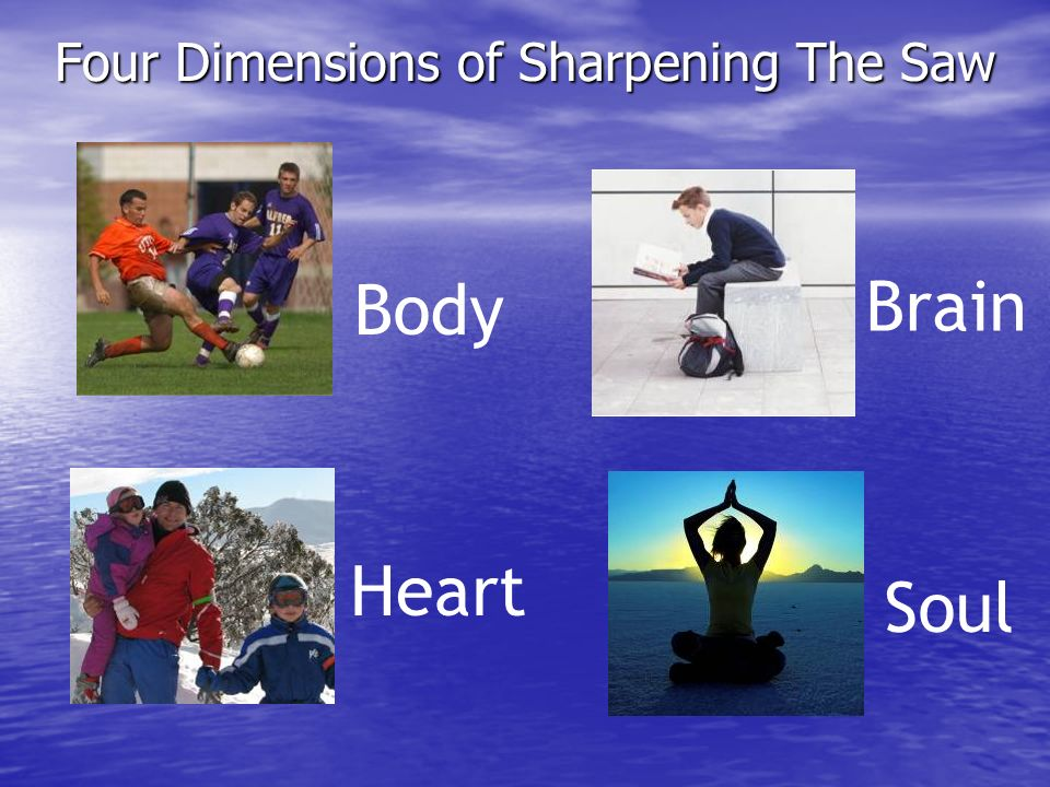 Four Dimensions of Sharpening The Saw