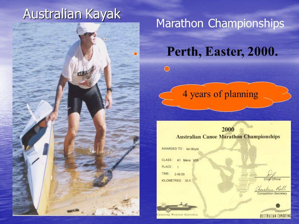 Australian Kayak Perth, Easter, 2000. Marathon Championships