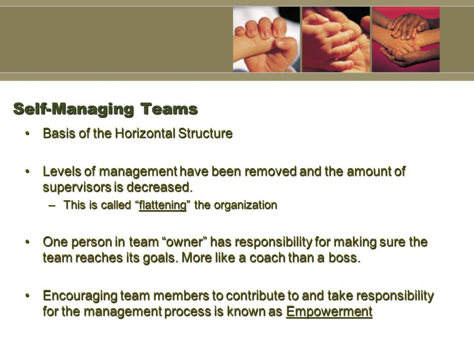 Self-Managing Teams Basis of the Horizontal Structure