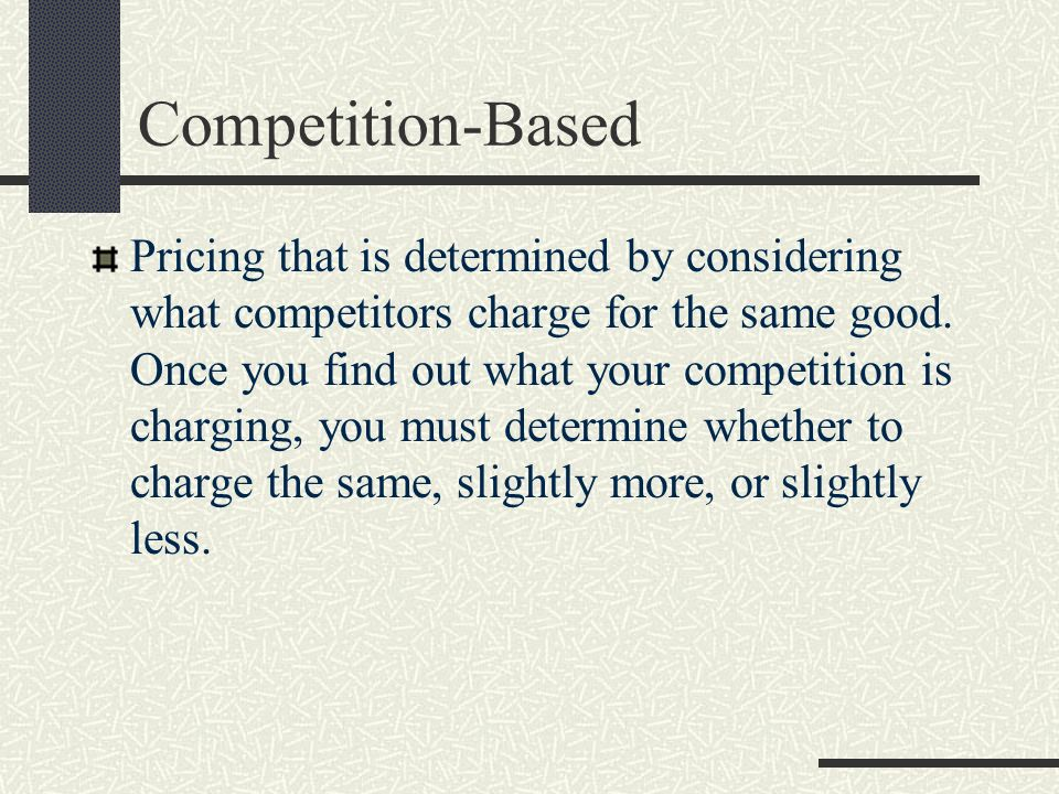 Competition-Based
