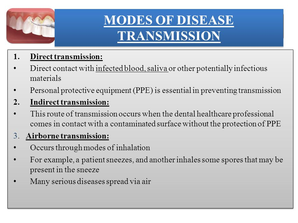 MODES OF DISEASE TRANSMISSION