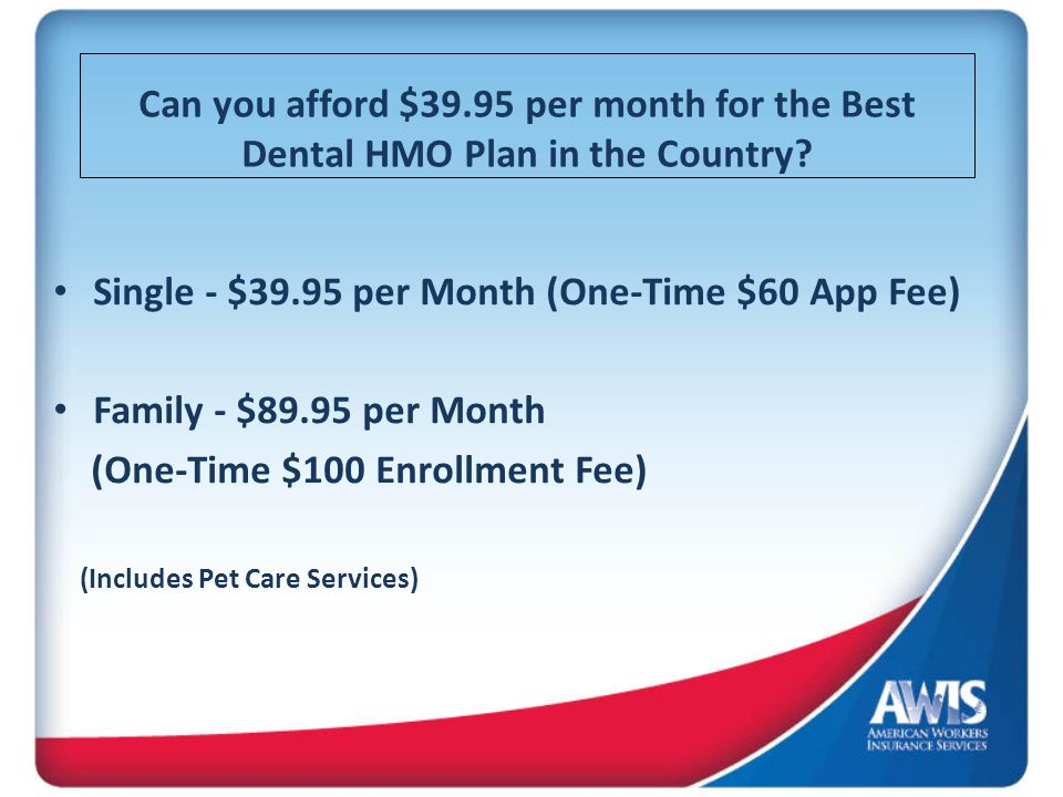 Single - $39.95 per Month (One-Time $60 App Fee)