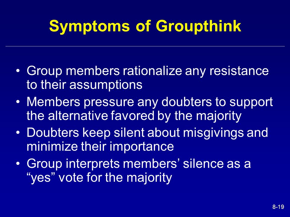 groupthink group norms and behaviour Conformity and groupthink and conformity is a tendency for people to bring their behavior in line with group norms and it's a powerful in social situations.