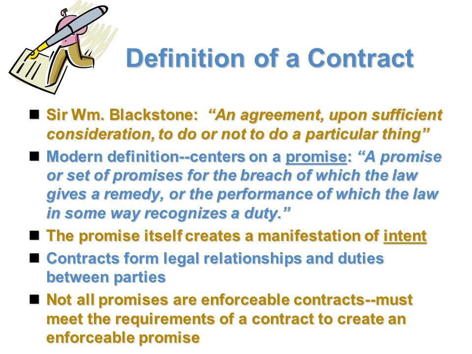 What are the 4 essential elements of a contract?