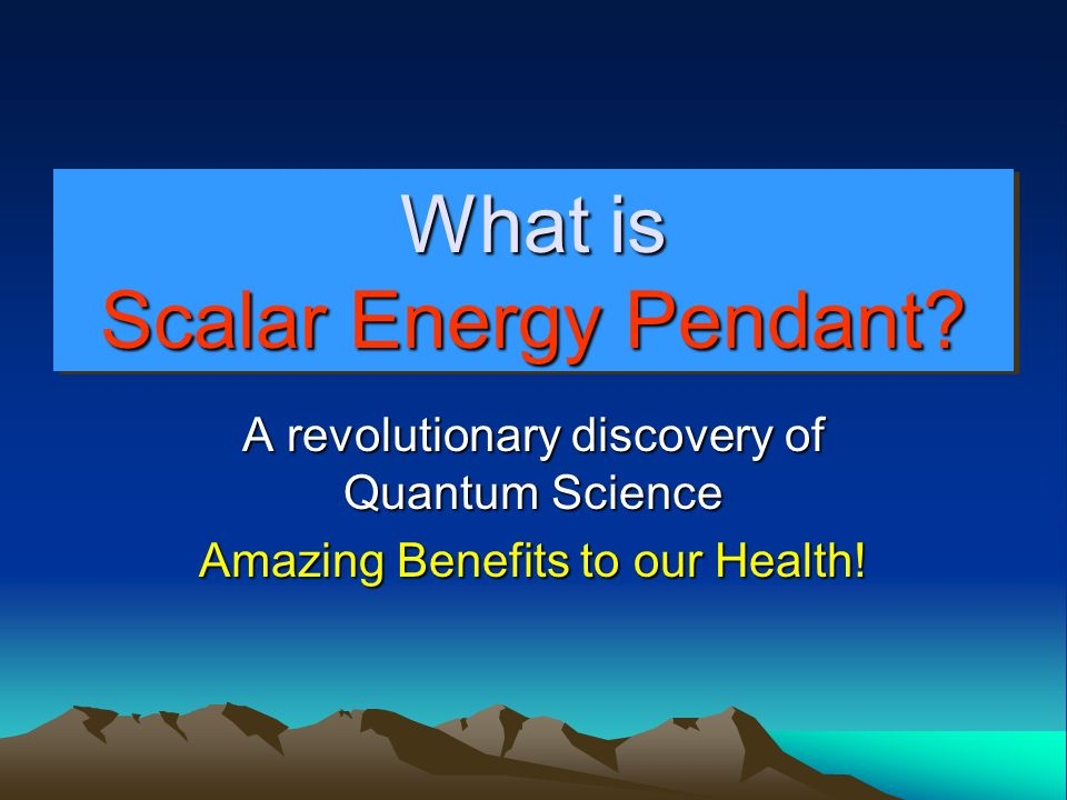 What is Scalar Energy Pendant