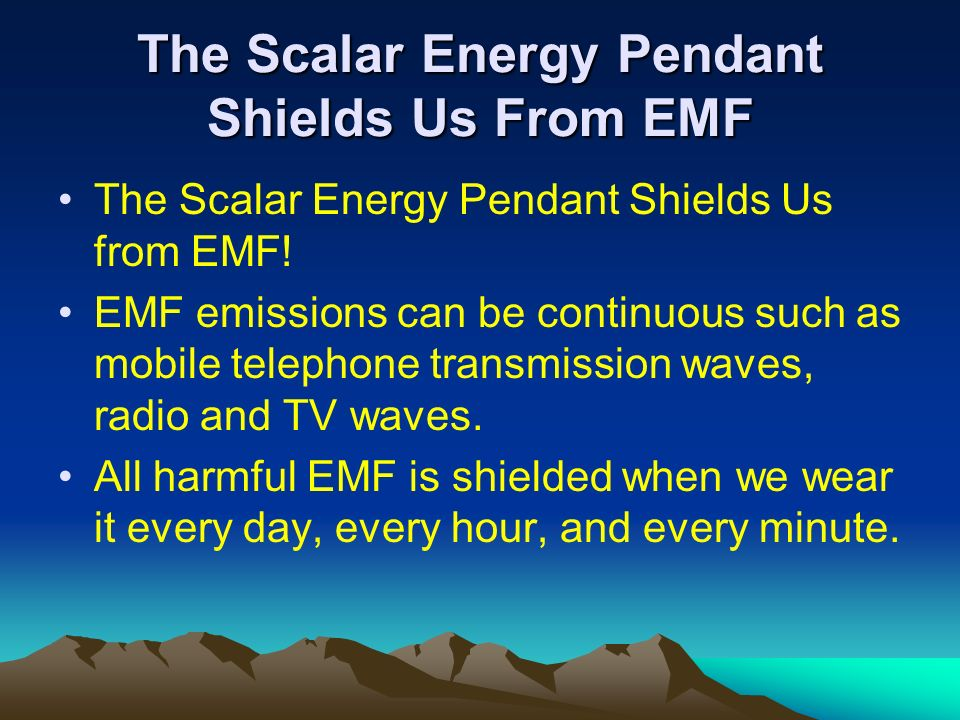 The Scalar Energy Pendant Shields Us From EMF