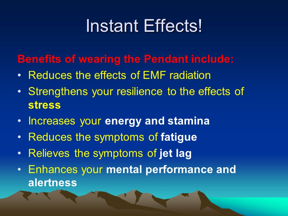 Instant Effects! Benefits of wearing the Pendant include: