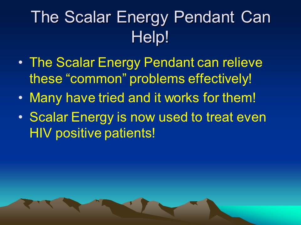 The Scalar Energy Pendant Can Help!