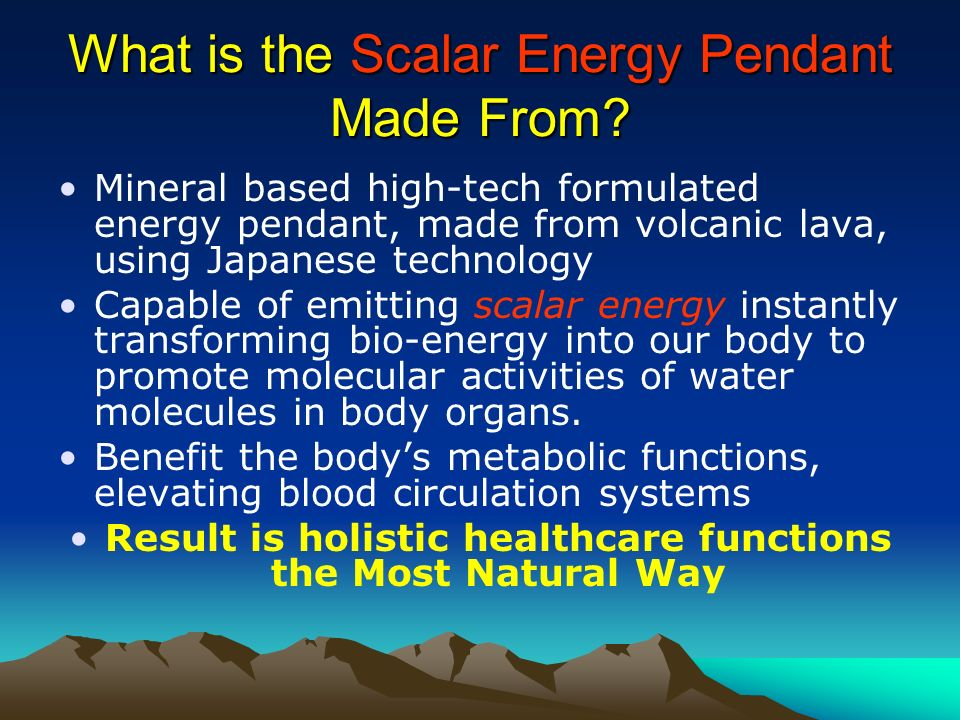 What is the Scalar Energy Pendant Made From