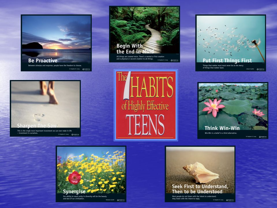 The content of the 7 Habits book provides a teen oriented framework to deliver developmental change to our teenagers.