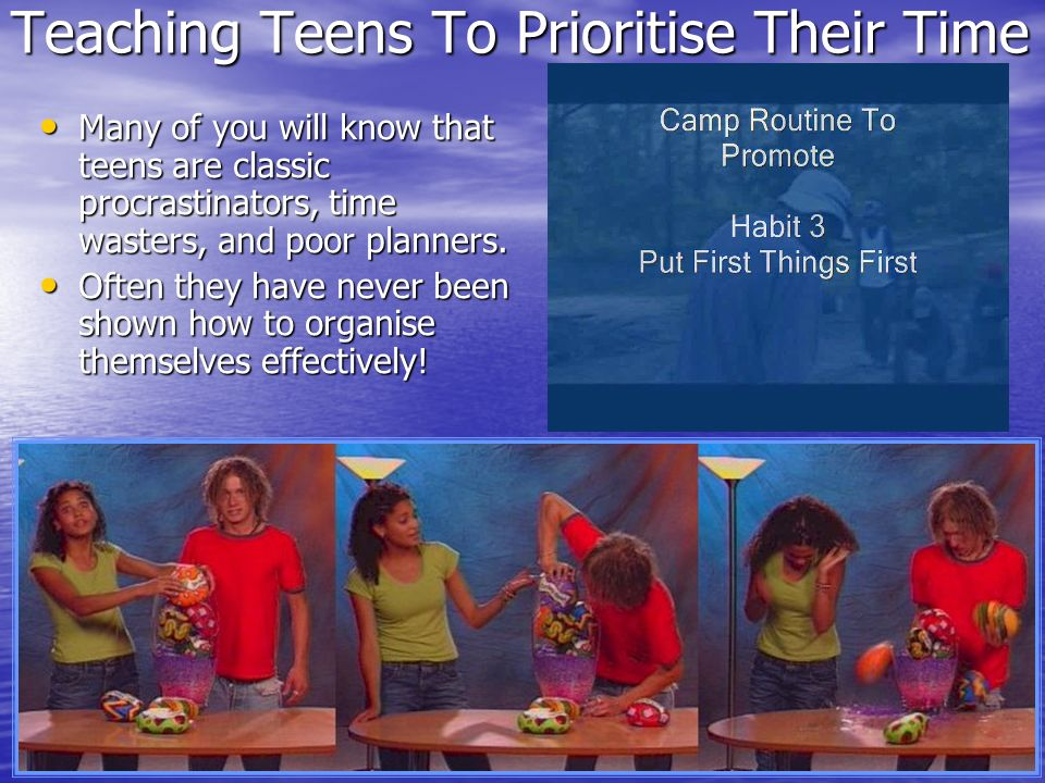Teaching Teens To Prioritise Their Time