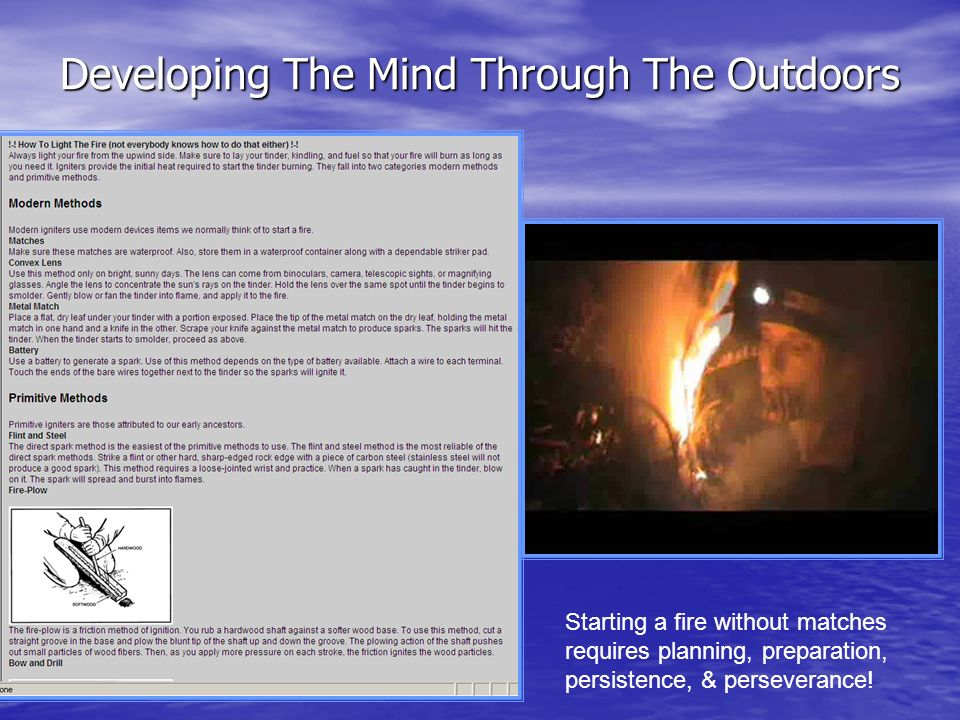 Developing The Mind Through The Outdoors