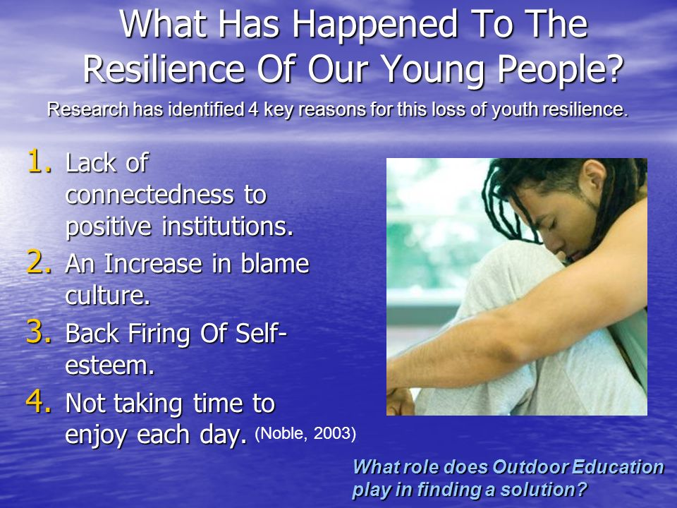 What Has Happened To The Resilience Of Our Young People