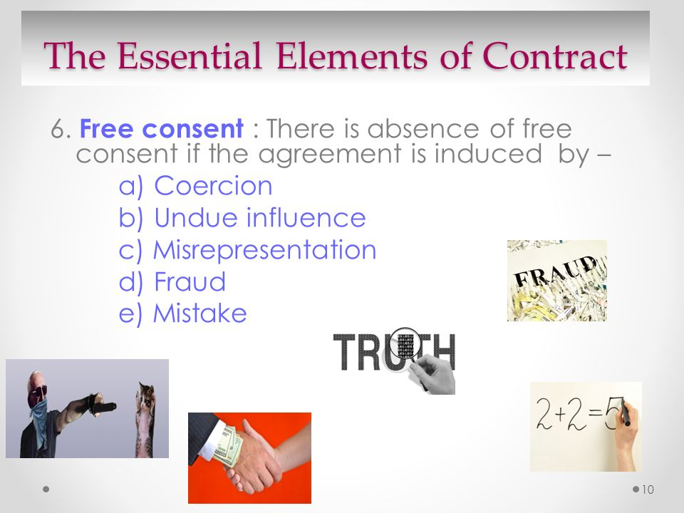 ... Essential Elements Of A Valid Contract What Are The Basic Elements Of  The Employment Contract And