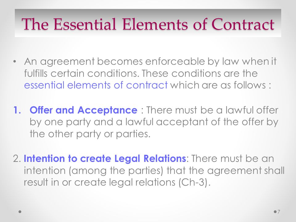 The Contract Act Compiled By Jbsc  Ppt Video Online Download