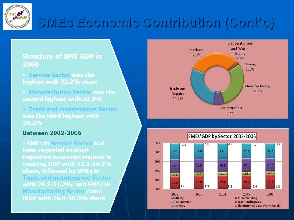 SMEs Economic Contribution (Cont'd)