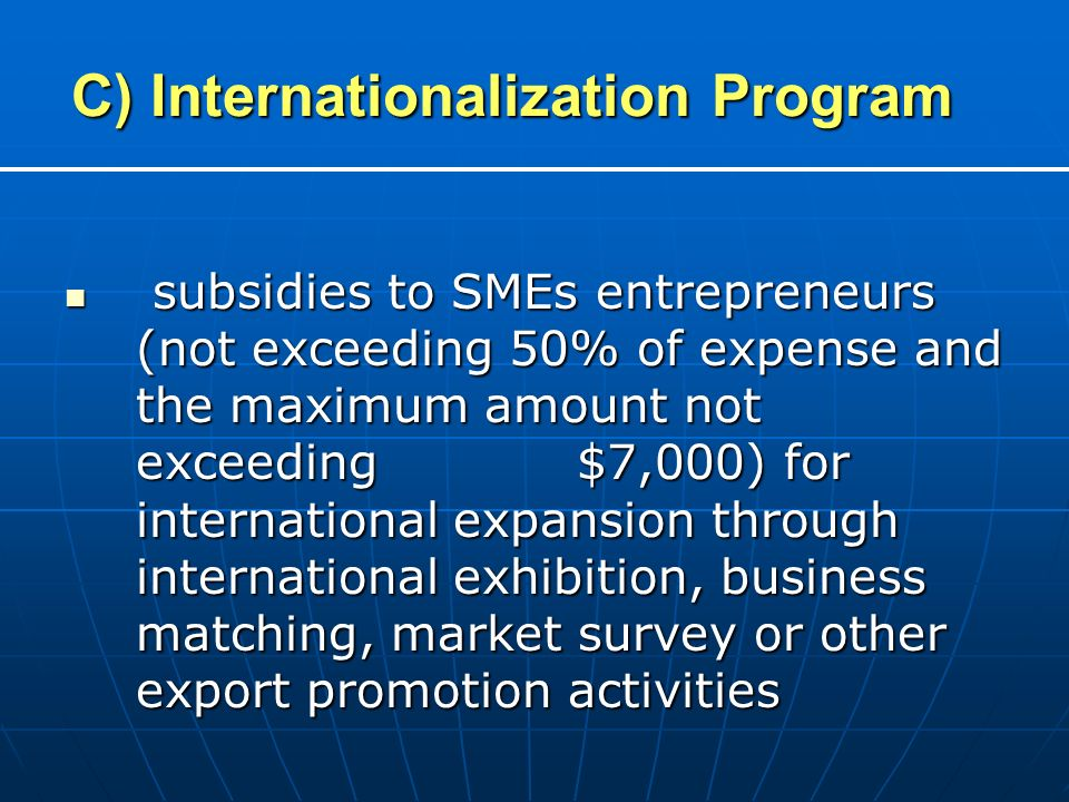 C) Internationalization Program